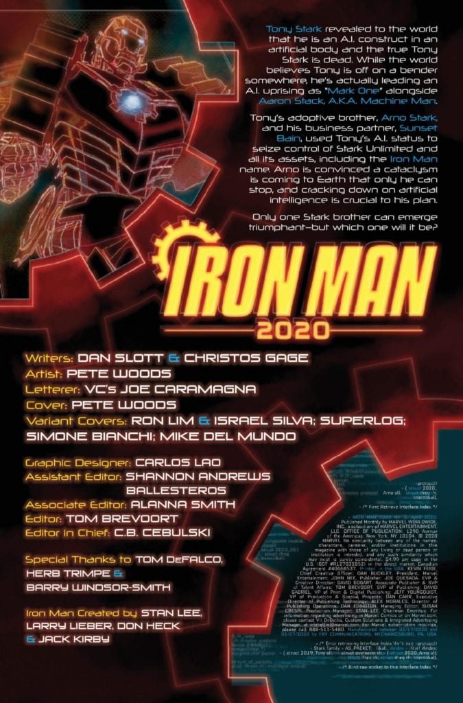 Exclusive Preview: IRONMAN 2020 #2