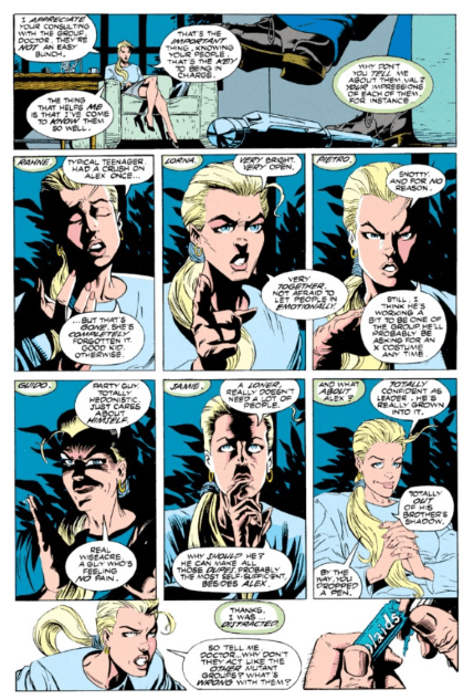 X-Factor #87 shows a not so all knowing Val