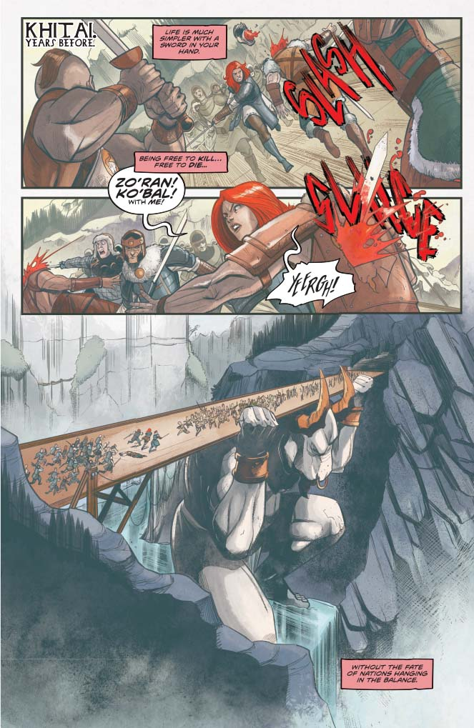 Red Sonja #15, Vol 5 - art sample