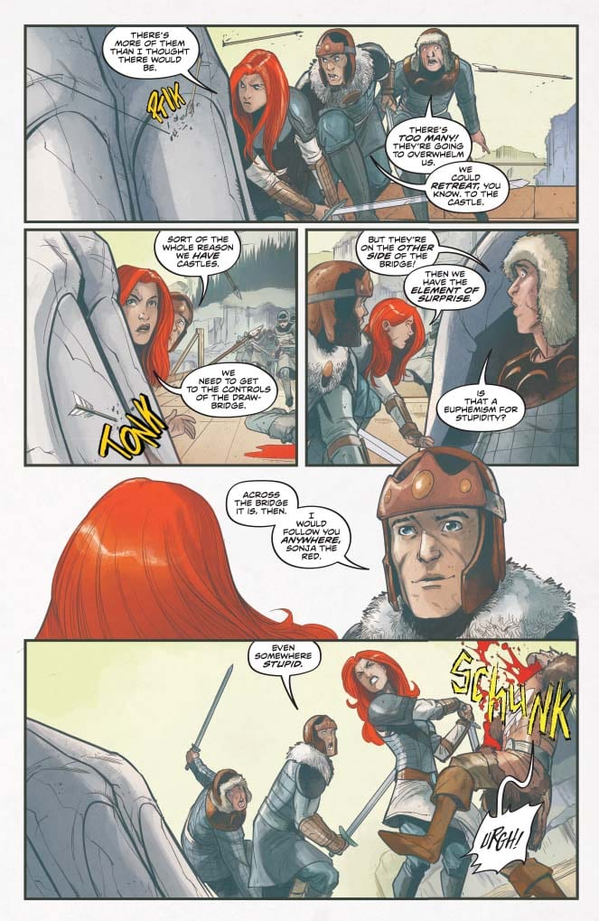 Red Sonja #15, Vol 5 - color sample