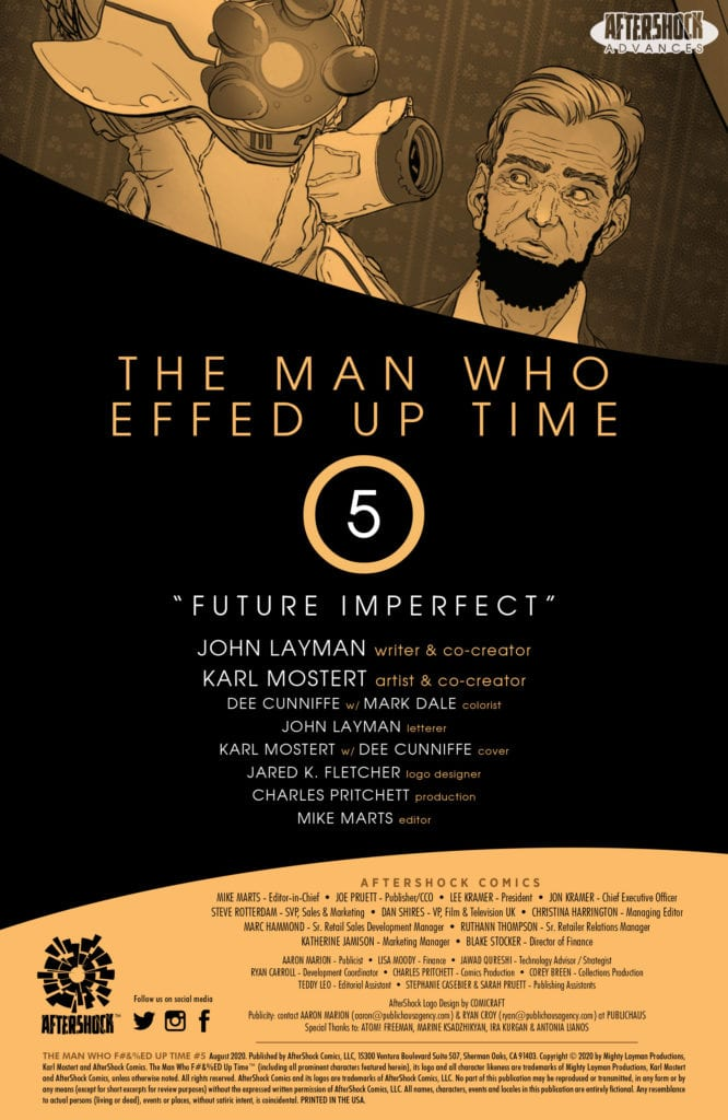 aftershock comics exclusive preview the man who effed up time #5