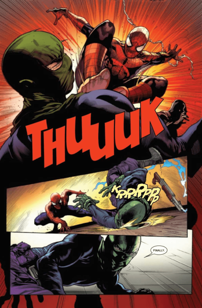 Stunning Lettering and Colors example in The Amazing Spider-Man #47
