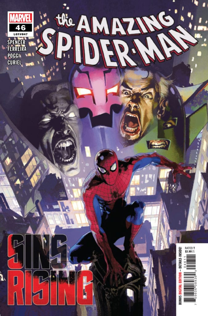 amazing spider-man #46 sins rising marvel comics exclusive preview
