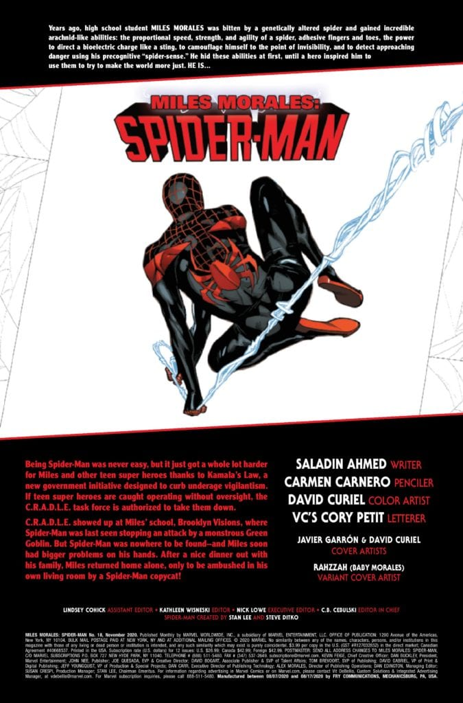 Exclusive Preview - MILES MORALES: SPIDER-MAN #18 Outlawed!