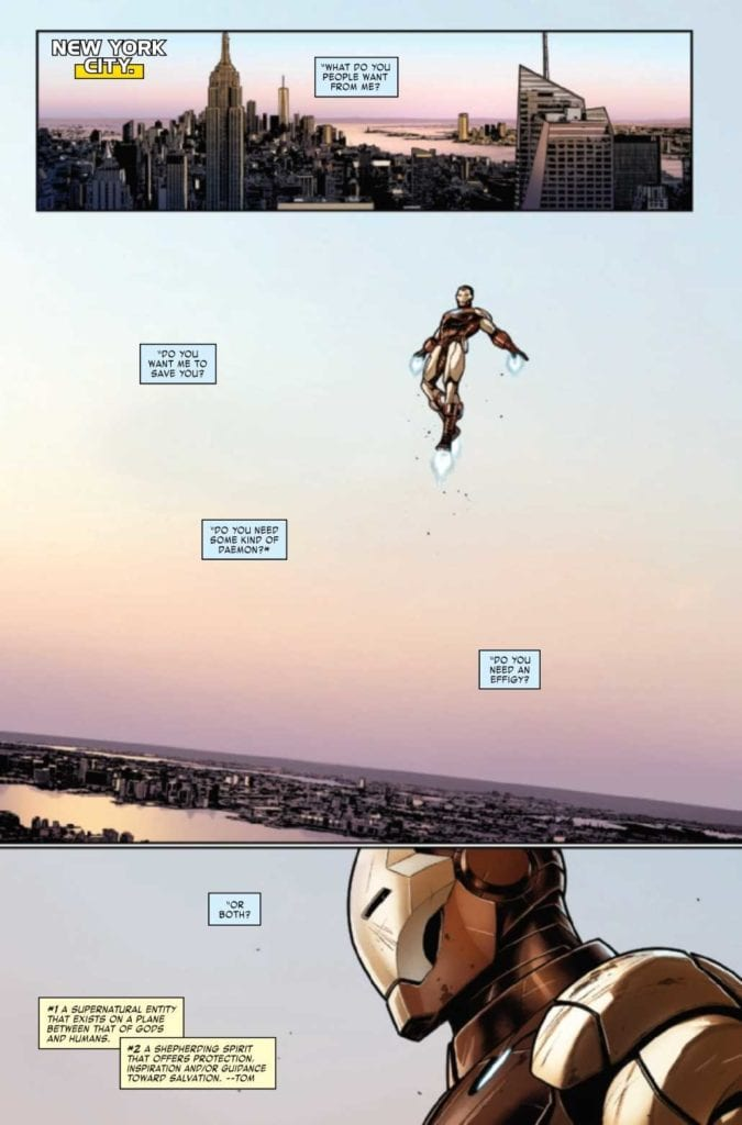 Iron Man #3, writing sample