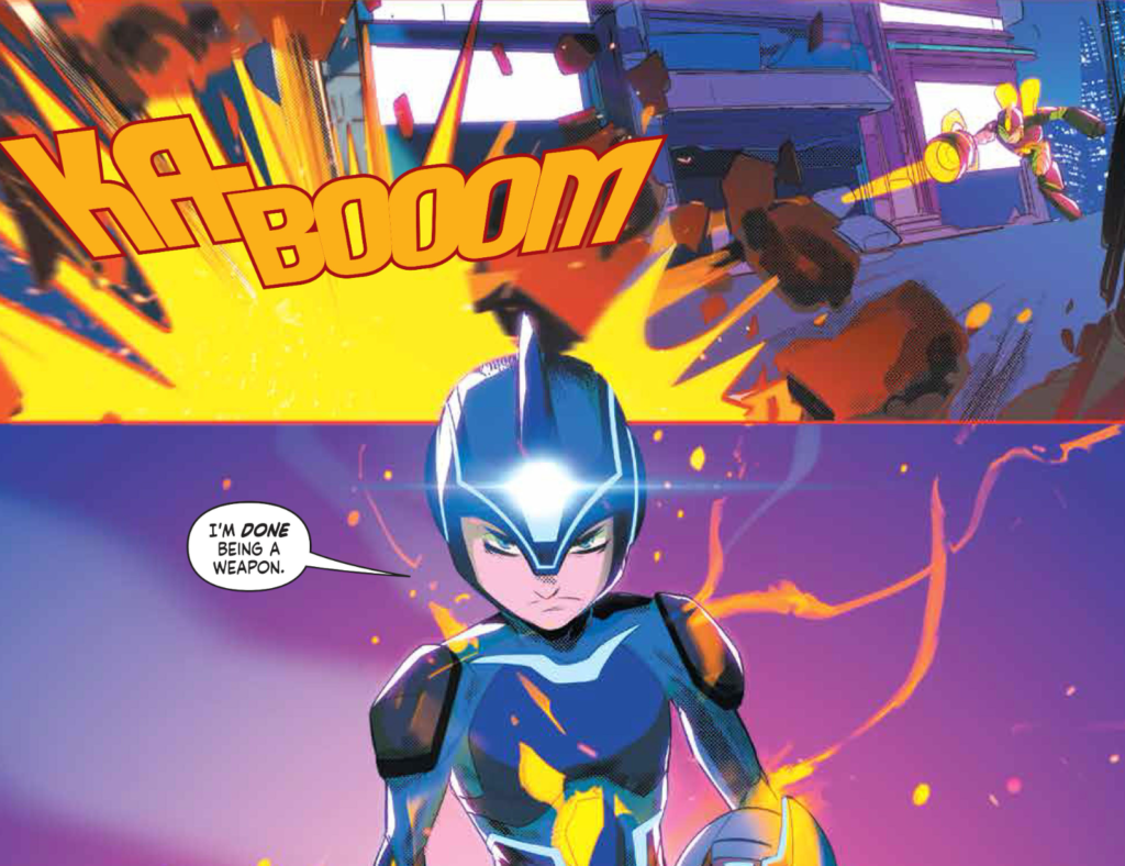 Mega Man: Fully Charged #6 Art Color Example