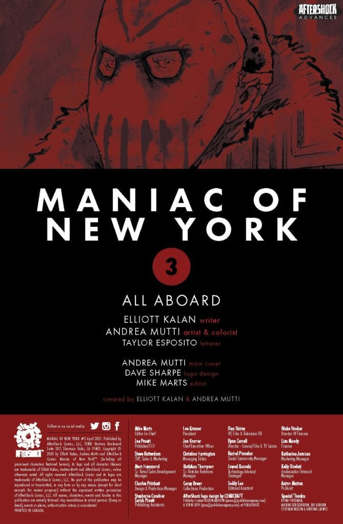 4-Page Preview: MANIAC OF NEW YORK #3 by Elliott Kalan and Andrea Mutti