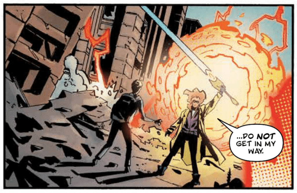Crossover #6 Lettering Example