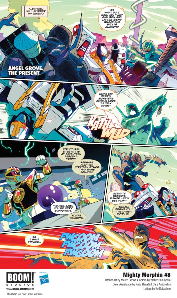 Exclusive Preview: MIGHTY MORPHIN #8 From BOOM! Studios