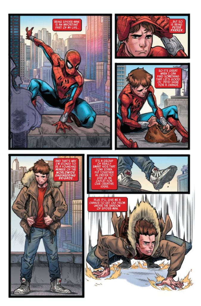 web of spider-man #1 marvel comics exclusive preview