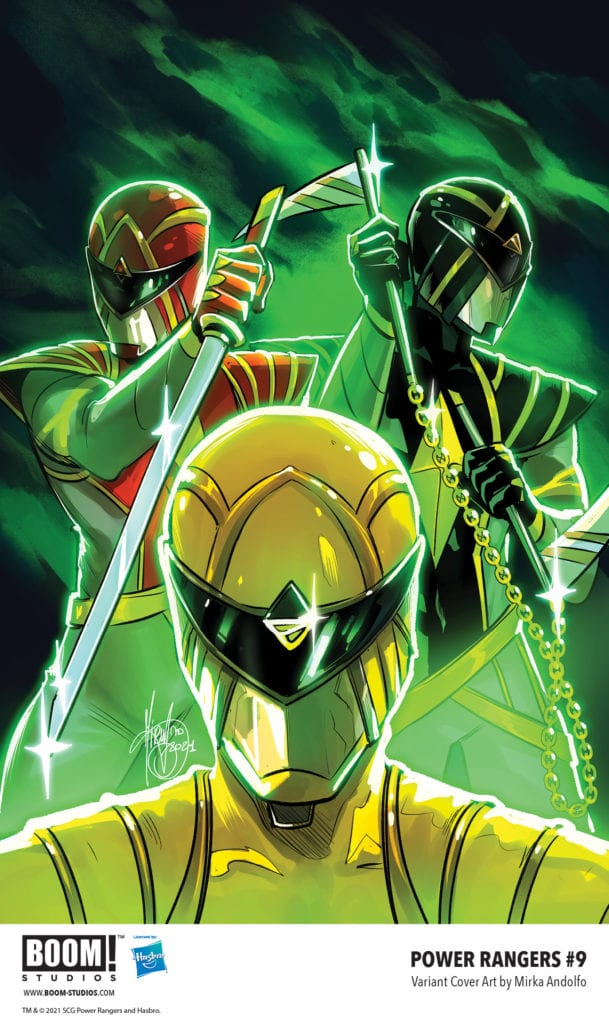 power rangers #9 boom! studios exclusive preview first look