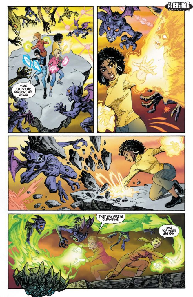 aftershock comics exclusive preview girls of dimension 13