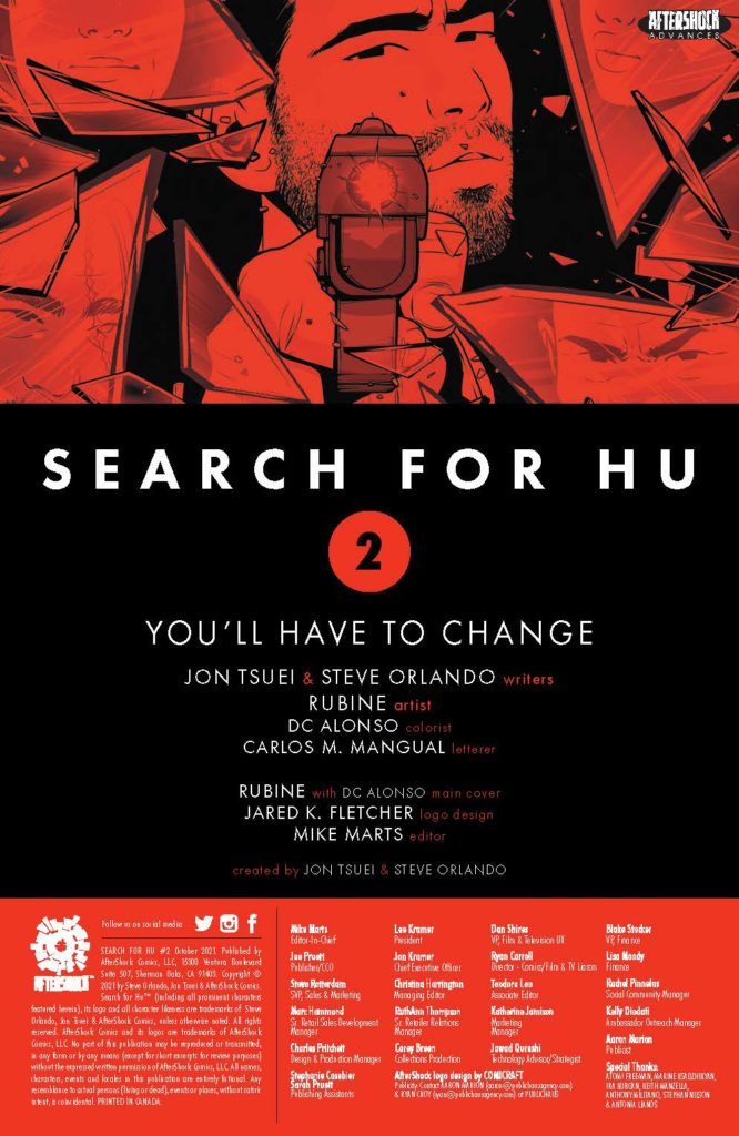 aftershock comics exclusive preview search for hu
